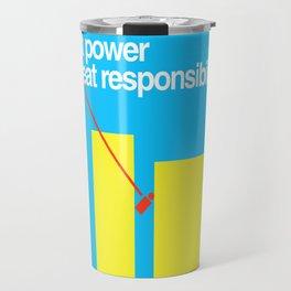 Minimal Superhero Poster Travel Mug