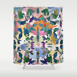 Floral Exclusion  Shower Curtain