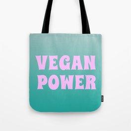 Vegan Power Vegetarian Workout Graphics Tote Bag