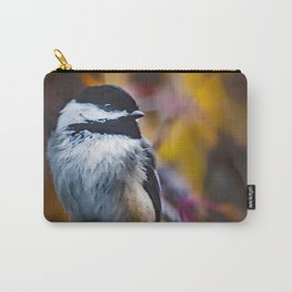 Fall Chickadee Carry-All Pouch