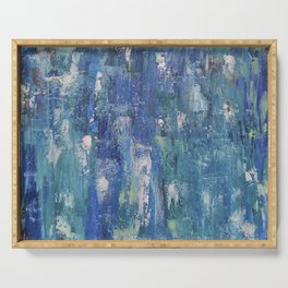 Abstract blue Serving Tray