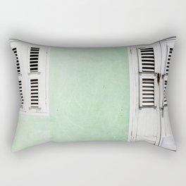 Mint green house in Caribbean Rectangular Pillow