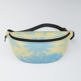 Surreal butterflies and landscape on mandala Fanny Pack