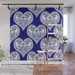 Lace heart 2 Wall Mural
