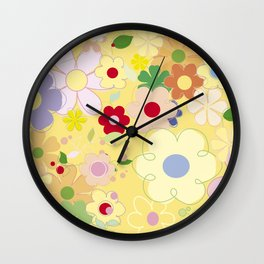 Graphic flowers: Dancing king Wall Clock