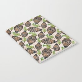 Watercolor Pine Cone Pattern Notebook
