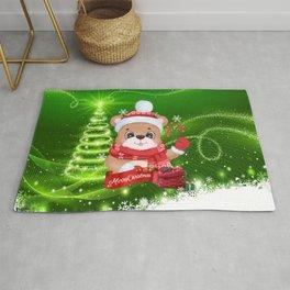 Merry Christmas Little Bear Rug