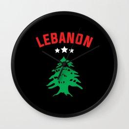 Lebanon Flag Wall Clock