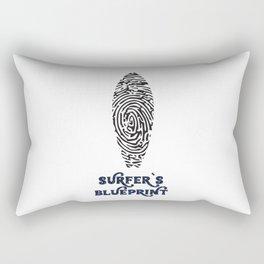 Surfer's Blueprint Ride Waves T-Shirt Rectangular Pillow