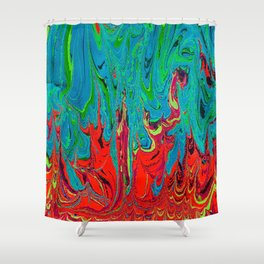 Fire Vs Water Shower Curtain