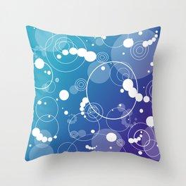 Water Drips Throw Pillow