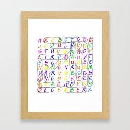 Calendar Fun Framed Art Print