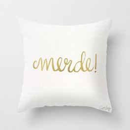 Pardon My French – Gold Ink Throw Pillow