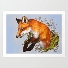 Adventurous fox Art Print
