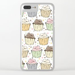 Cupcake Love Pattern -Food Pattern Clear iPhone Case