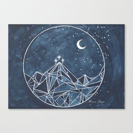 Night Court moon and stars Canvas Print
