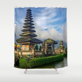 Water Temples of Bali Shower Curtain