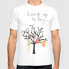 Hung up to dry... Mens Fitted Tee White MEDIUM