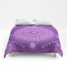 """Purple & Mallow Vault Mandala"" (Silver stars) Comforters"