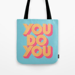 You Do You Retro Blue Tote Bag