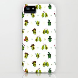 Avocado Pattern - holy guacamole collection iPhone Case