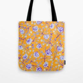 Watercolor Peonies - Sapphire Marigold Tote Bag