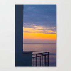Balcony on the sea Canvas Print