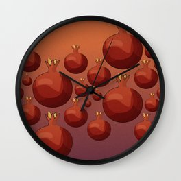 Pomegranate - Pallete I Wall Clock