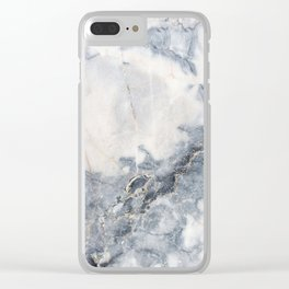 Gray Marble Texure Clear iPhone Case