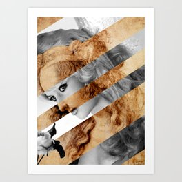 "Leonardo's ""Head of a Woman"" & Brigitte  Bardot Art Print"