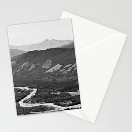 River in the Mountains B&W Stationery Cards