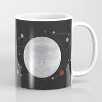 the moon Mugs featuring Moon by FLATOWL