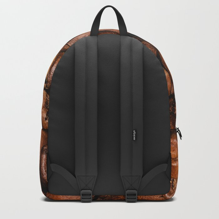 Shiny brown coffee beans Backpack