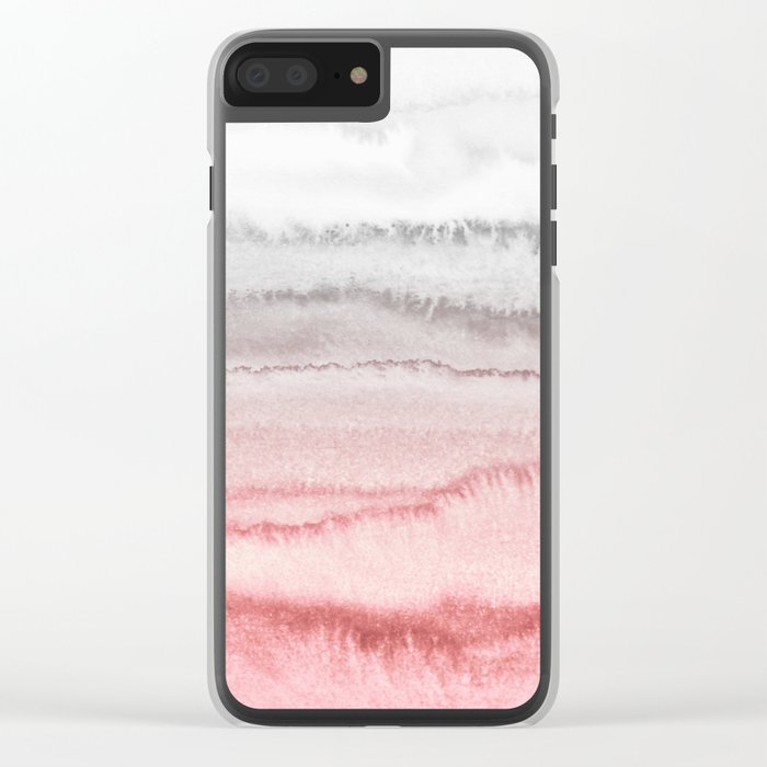 WITHIN THE TIDES - ROSE TO GREY Clear iPhone Case