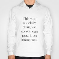 instagram Hoodies featuring Instagram by Max Croissant