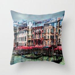 Venice Post Card Throw Pillow