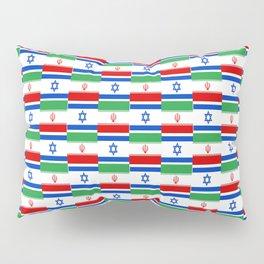 Mix of flag: Israel and Iran Pillow Sham