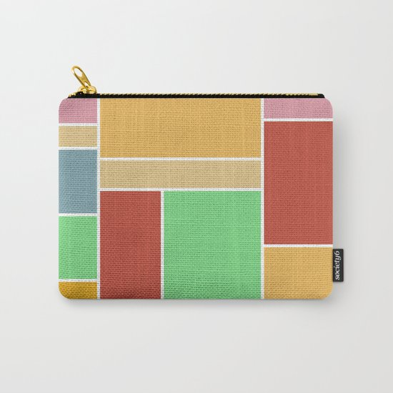 Abstract #347 60's Color Palette Carry-All Pouch