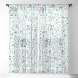 Pigeons Sheer Curtain