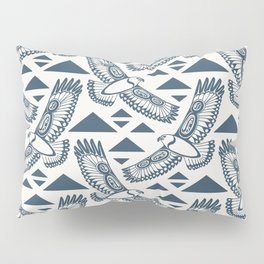 The Hawk's Flight_ Beige and Blue Pillow Sham