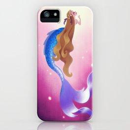 Mermad In Hot Pink Sea iPhone Case