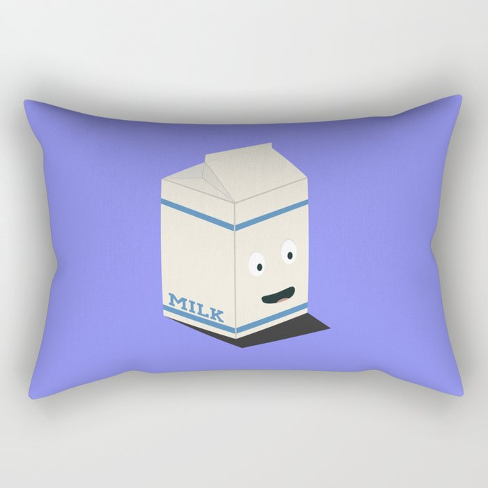 Cute kawaii milk carton Rectangular Pillow