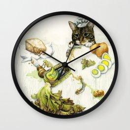 Caesar Salad Wall Clock