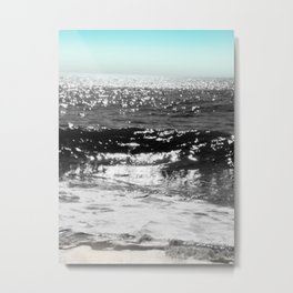 Cascading Waves Metal Print