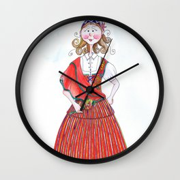 MARIA FROM MADEIRA, PORTUGAL Wall Clock