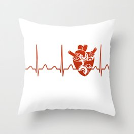 Biomedical Engineer Heartbeat Throw Pillow