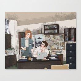 Teen Wolf X-Files AU (Stiles Stilinski & Lydia Martin) Canvas Print