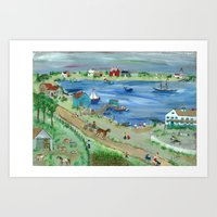 Oysters on Cape Cod Art Print