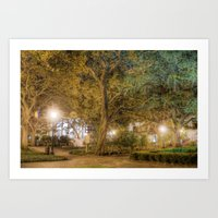 allyson johnson Art Prints featuring Johnson Square by -SM-