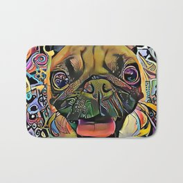 The PUG II from our POP YOUR POOCH line Bath Mat